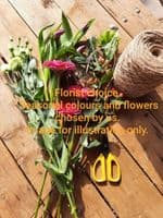 Click and Collect Florist Choice hand tied bouquet vibrant mix £20